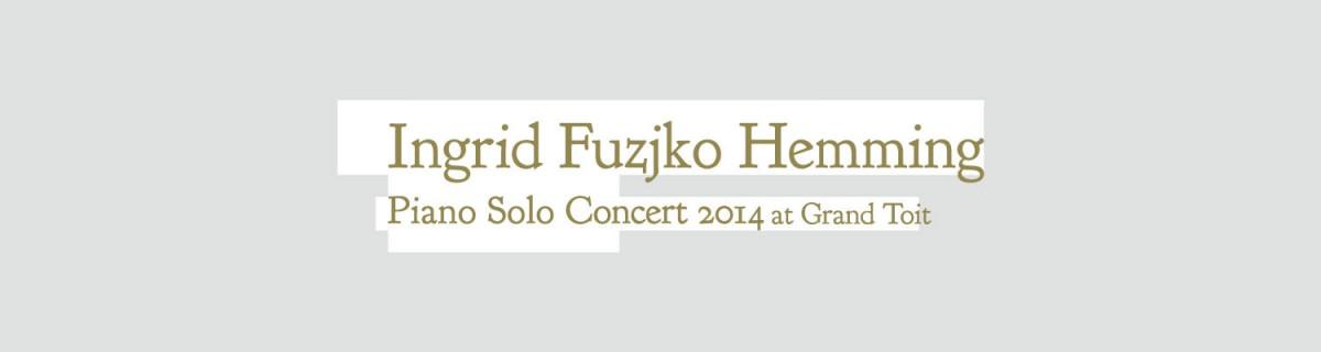 Ingrid Fuzjko Hemming solo piano concert