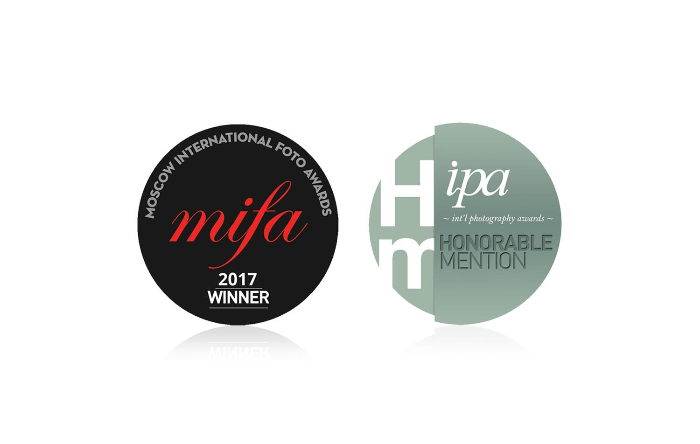MOSCOW INTERNATIONAL FOTO AWARDS(MIFA) 2017でSliver, ipa ~international photography awards~ 2017でHonorable Menrionを受賞
